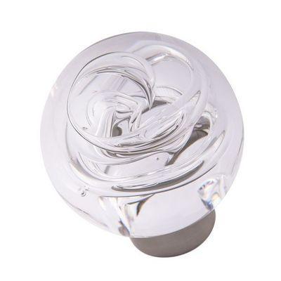 Les Verreries De Brehat - Bouton de porte-Les Verreries De Brehat-Tubes de bulles sph�rique incolore