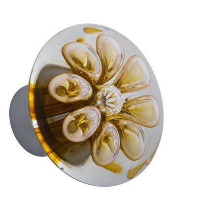 Les Verreries De Brehat - Bouton de porte-Les Verreries De Brehat-Bulles de fleurs disque
