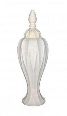 Demeure et Jardin - Vase couvert-Demeure et Jardin-Vase couvert C�ramique Blanche