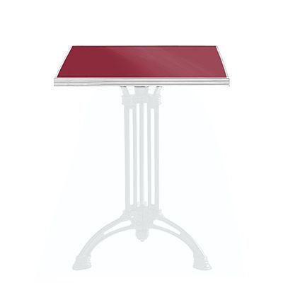 Ardamez - Plateau de table bistrot-Ardamez-Plateau de table de bistrot émaillée / rouge