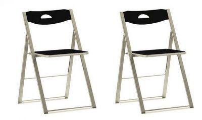 Domitalia - Chaise pliante-Domitalia-Lot de 2 chaises pliantes ICON noire.