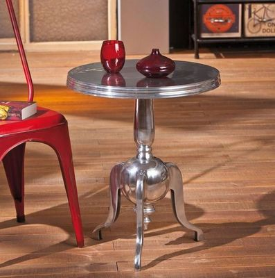 WHITE LABEL - Table d'appoint-WHITE LABEL-Table d'appoint NIME en aluminium