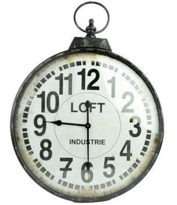 Antic Line Creations - Horloge murale-Antic Line Creations-Horloge industrielle Loft