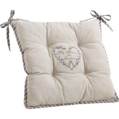 Aubry-Gaspard - Galette de chaise-Aubry-Gaspard-Coussin de chaise maison du bonheur