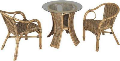 Aubry-Gaspard - Salle à manger de jardin-Aubry-Gaspard-Table et chaise de jardin