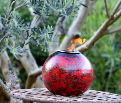 Amadera - Lampe de jardin-Amadera-Lampe éthanol déco de table