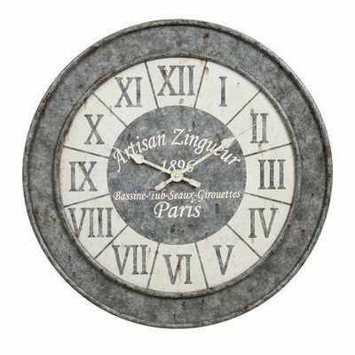 Interior's - Horloge murale-Interior's-Horloge façon Zinc