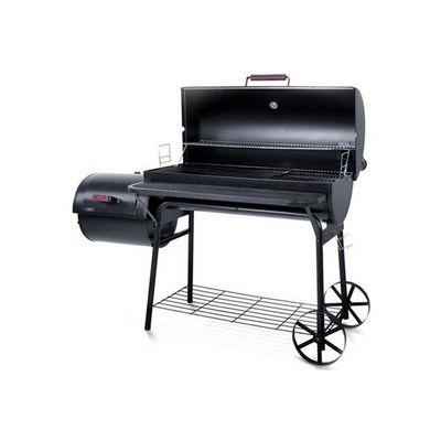 WHITE LABEL - Barbecue au charbon-WHITE LABEL-Barbecue charbon avec thermomètre XL