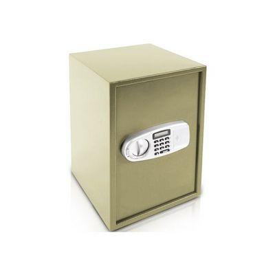 WHITE LABEL - Coffre fort à poser-WHITE LABEL-Coffre-fort en acier avec serrure code