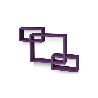WHITE LABEL - Etagère-WHITE LABEL-Étagère murale x3 cube design violet