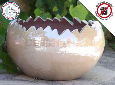 Les Poteries Clair de Terre - Vase décoratif-Les Poteries Clair de Terre-Jurassic