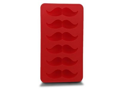 WHITE LABEL - Bac à glaçons-WHITE LABEL-Bac à glaçons original en forme de moustaches noir