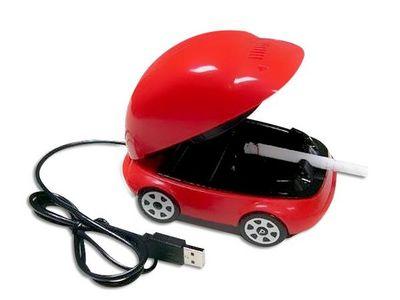 WHITE LABEL - Cendrier-WHITE LABEL-Mini-voiture cendrier aspirateur de fumée USB acce
