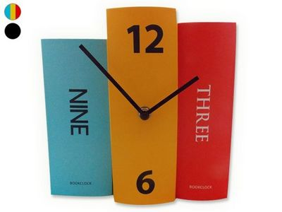 WHITE LABEL - Horloge à poser-WHITE LABEL-Horloge 3 livres décorative et originale couleur d