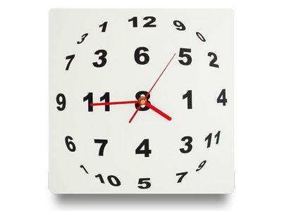 WHITE LABEL - Horloge murale-WHITE LABEL-Horloge illusion optique en sph�re de chiffre  dec