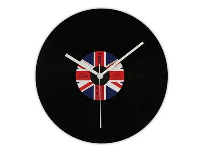 WHITE LABEL - Horloge murale-WHITE LABEL-L'horloge disque vinyle Royaume Uni deco maison d