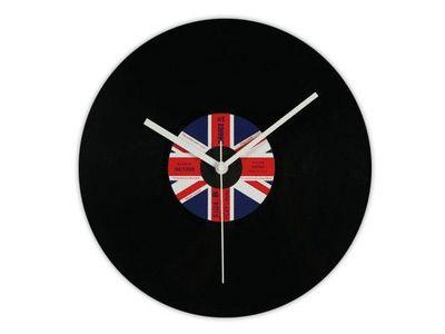 WHITE LABEL - Horloge murale-WHITE LABEL-L'horloge disque vinyle Royaume Uni deco maison d