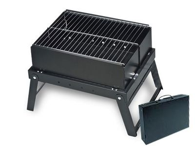 WHITE LABEL - Barbecue portable-WHITE LABEL-Barbecue pliable en valise deco maison ustensile c