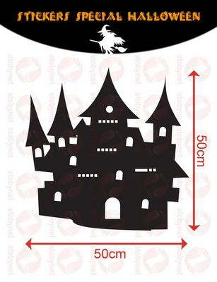 WHITE LABEL - Sticker-WHITE LABEL-Sticker Château Hanté d'Halloween