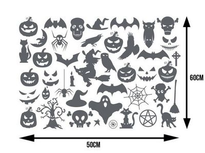 WHITE LABEL - Sticker-WHITE LABEL-Planche de plus de 40 stickers pour Halloween