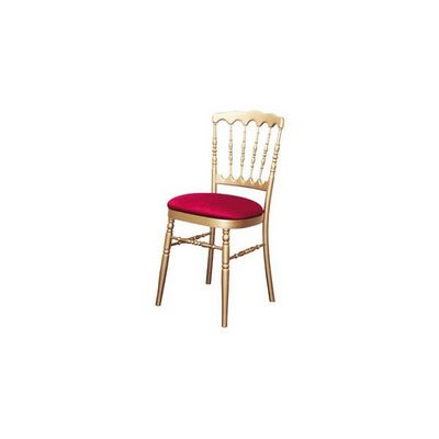 DECO PRIVE - Chaise réception-DECO PRIVE-Chaise Napoleon 3 dorée et galette rouge (tarif pr