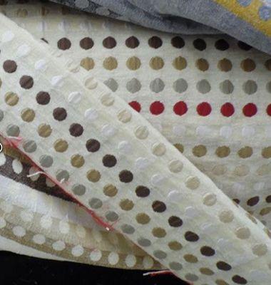 Le Quartier des Tissus - Tissu au mètre-Le Quartier des Tissus-Velours à rayures pois