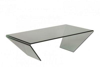 WHITE LABEL - Table basse rectangulaire-WHITE LABEL-Table basse EMERAUDE en verre