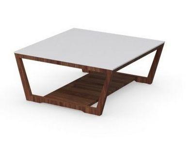 Calligaris - Table basse carr�e-Calligaris-Table basse ELEMENT de CALLIGARIS noyer avec plate