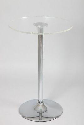 WHITE LABEL - Mange debout-WHITE LABEL-Table de bar LENA en verre