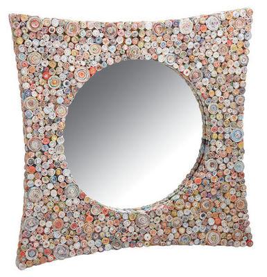 Aubry-Gaspard - Miroir-Aubry-Gaspard-Miroir carré incurvé en papier recyclé