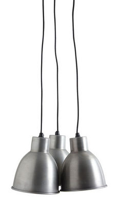 Aubry-Gaspard - Suspension-Aubry-Gaspard-Suspension 3 lampes en zinc