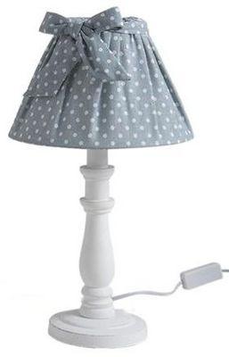 Aubry-Gaspard - Lampe à poser-Aubry-Gaspard-Lampe de chevet Shabby Chic 40cm Bleu
