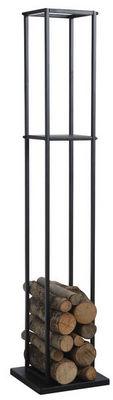 Aubry-Gaspard - Porte-buches-Aubry-Gaspard-Grand rack à bûches en métal noir