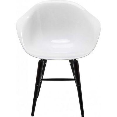 Kare Design - Chaise-Kare Design-Chaise avec accoudoirs black Forum blanc