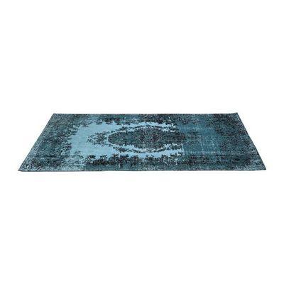 Kare Design - Tapis contemporain-Kare Design-Tapis en coton Kelim Pop turquoise 200x300cm