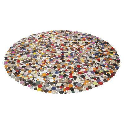 Kare Design - Tapis contemporain-Kare Design-Tapis Rond Circle Multi 250cm