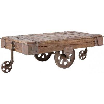 Kare Design - Table basse rectangulaire-Kare Design-Table Basse en bois Railway 135x80 cm