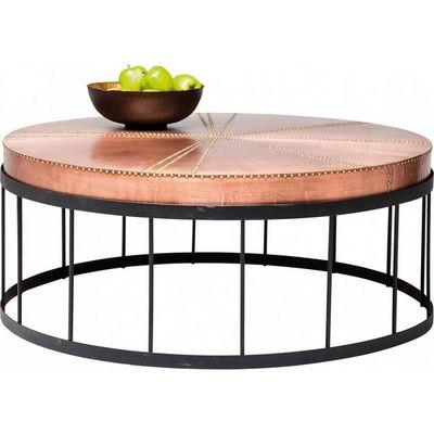 Kare Design - Table basse ronde-Kare Design-Table Basse Ronde Rivet Copper