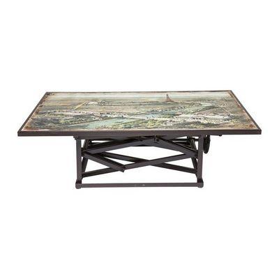 Kare Design - Table basse carrée-Kare Design-Table basse en bois Paris Map 140x84 cm