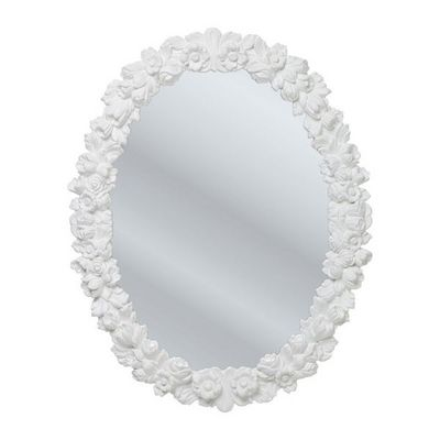 Kare Design - Miroir-Kare Design-Miroir Fiorellino blanc 74x94 cm