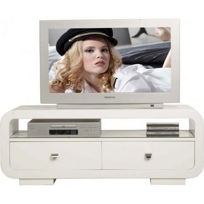 Kare Design - Meuble tv hi fi-Kare Design-Meuble TV 2 tiroirs White Club