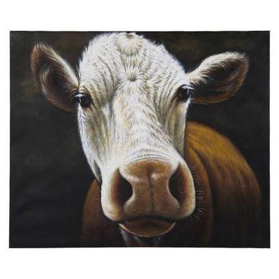 Kare Design - Tableau décoratif-Kare Design-Peinture à l huile Cow 100x120