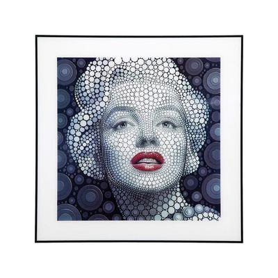 Kare Design - Tableau décoratif-Kare Design-Tableau Marilyn 3D 60x60 cm