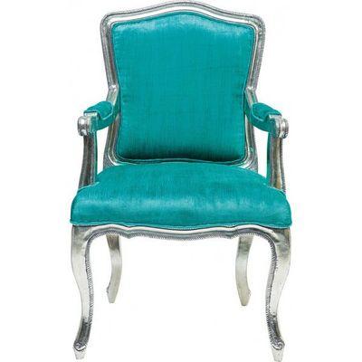 Kare Design - Fauteuil-Kare Design-Fauteuil Baroque Regency turquoise