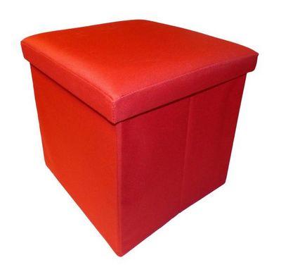 Cotton Wood - Pouf-Cotton Wood-Pouf Pliable Oxford Rouge
