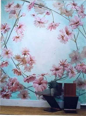 Fabienne Colin - Plafond peint-Fabienne Colin-Fleurs de cerisiers
