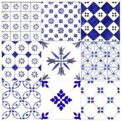 carrelage mural bleu geometrique faience faiences de. Black Bedroom Furniture Sets. Home Design Ideas