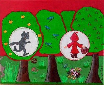 La p'tite Manue - Tableau décoratif enfant-La p'tite Manue-Le petit Chaperon Rouge