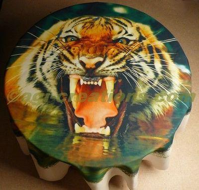 IMAGE CREATIONS - Tenture-IMAGE CREATIONS-Tenture murale ou nappe Tigre