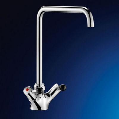 DELABIE - Mélangeur lavabo 1 trou-DELABIE-MÉLANGEUR MONOTROU SUR TABLE